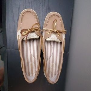 Sperry top-sider angelfish gold sparkle